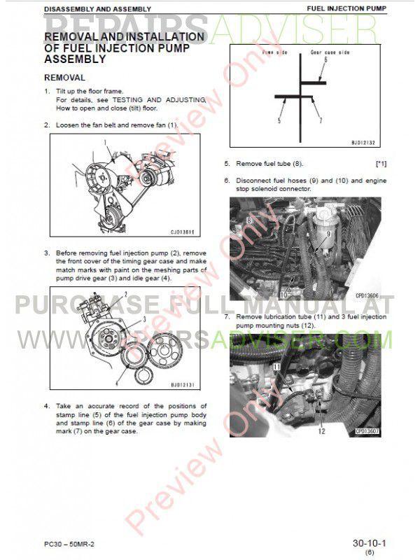 Komatsu PC27MR-2, PC30MR-2, PC35MR-2, PC40MR-2, PC50MR-2