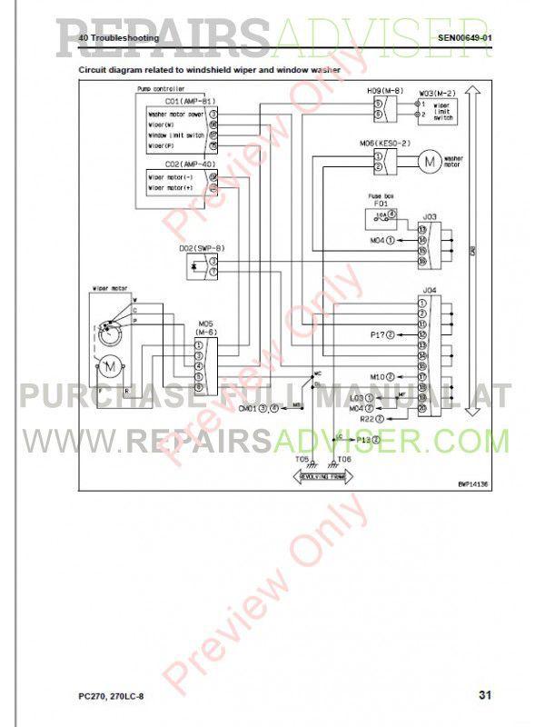 Komatsu PC270-8, PC270LC-8 Hydraulic Excavators Shop