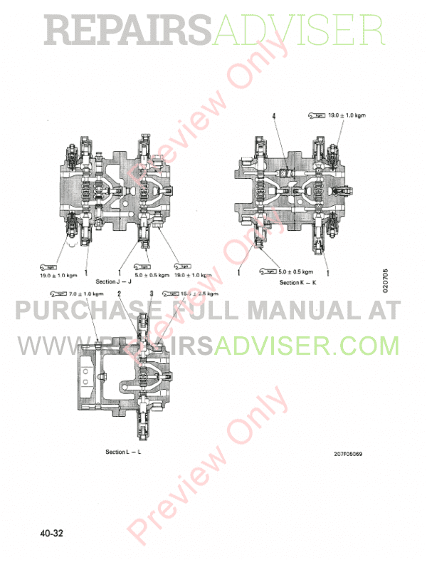 Komatsu PC300-5 PC400-5 Hydraulic Excavator Shop Manual
