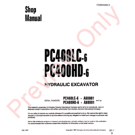 Komatsu PC200/220-7 PC200/220LC-7 Excavator Shop Manual PDF