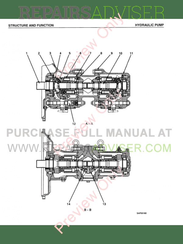 Komatsu PC450-6K, PC450LC-6K Hydraulic Excavator Shop