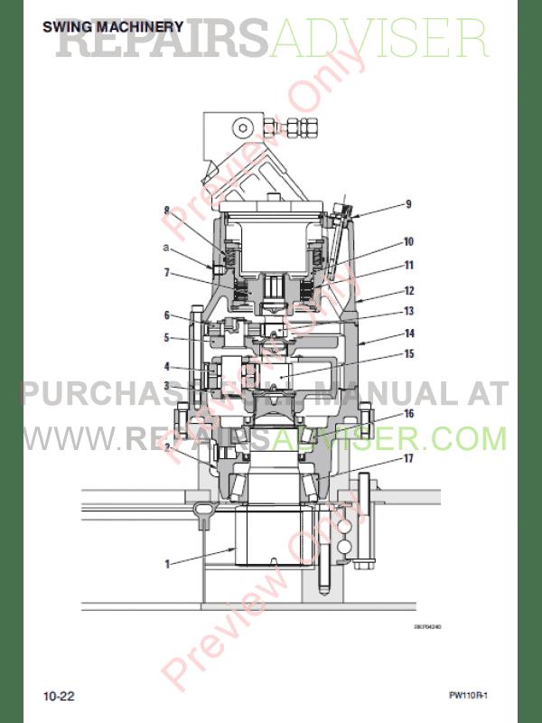 Komatsu PW110R-1 Hydraulic Excavator Shop Manual PDF Download