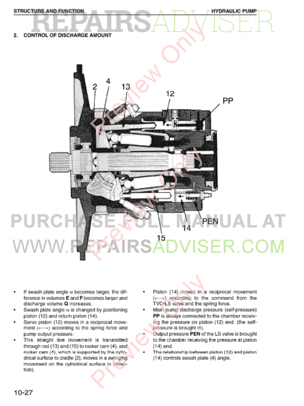 Komatsu PW170ES-6K Hydraulic Excavator Shop Manual PDF