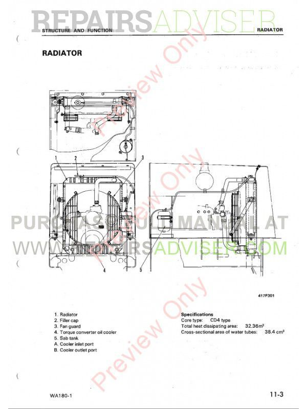 Komatsu WA180-1 Wheel Loader Shop Manual PDF Download