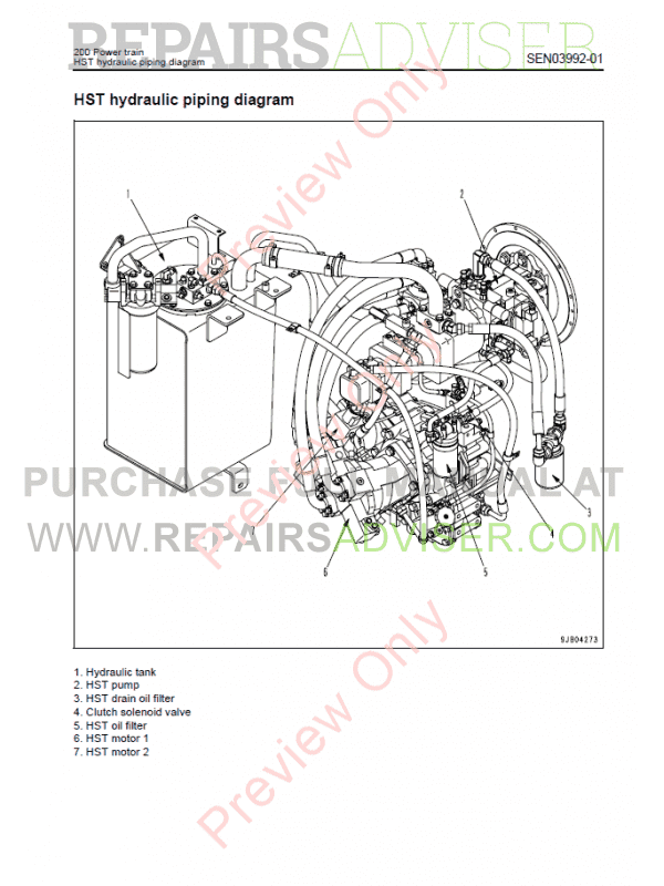 Komatsu WA250/WA250PZ-6 Wheel Loader Manual PDF Download