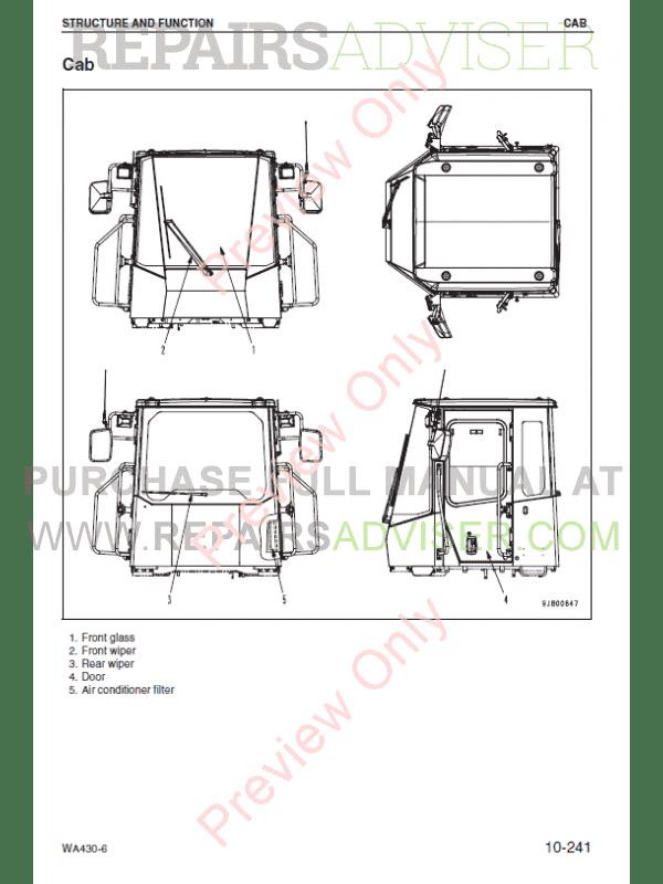 Komatsu WA430-6 Wheel Loader Shop Manual PDF Download