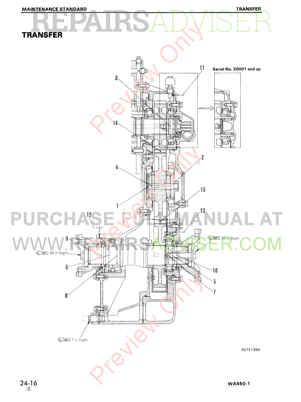 Komatsu WA450-1 Wheel Loader Shop Manuals PDF Download