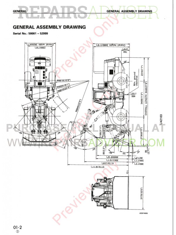 Komatsu WA470-3 Wheel Loader Shop Manuals PDF Download