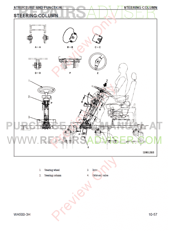 Komatsu WA500-3H Wheel Loader Shop Manual PDF Download