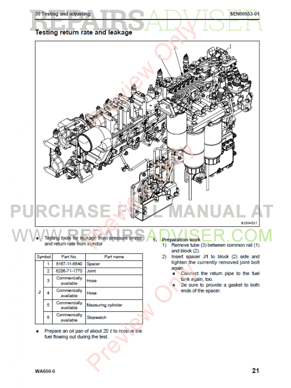 Komatsu WA600-6 Galeo Wheel Loader Shop Manual PDF Download