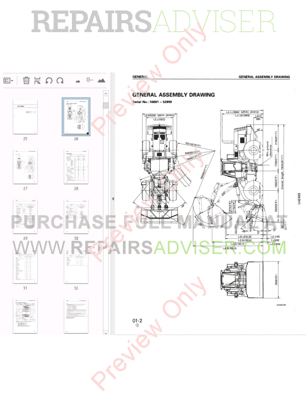 Komatsu Wheel Loader WA420-3 Shop Manual PDF Download
