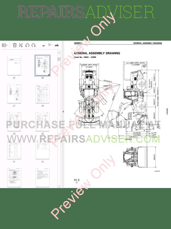 Komatsu Wheel Loader WA420-3 Shop Manual PDF Download