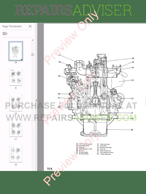 Komatsu Diesel Engine72-2/75-2/78-1/84-2 series Shop