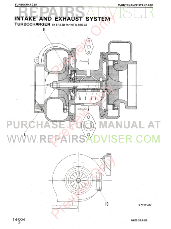 Komatsu-Cummins N-855 Series Diesel Engine Shop Manual PDF