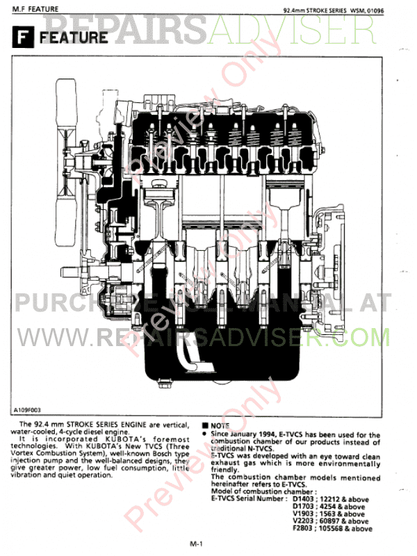 Kubota 03 Series Diesel Engine Workshop Manual PDF Download