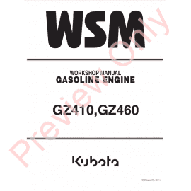 Kubota WG600-B Gasoline Engine Workshop Manual 9Y011-00433