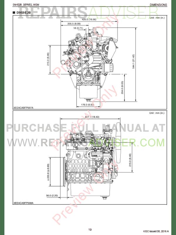 Kubota SM-E2B Series Diesel Engines Workshop Manual 9Y011