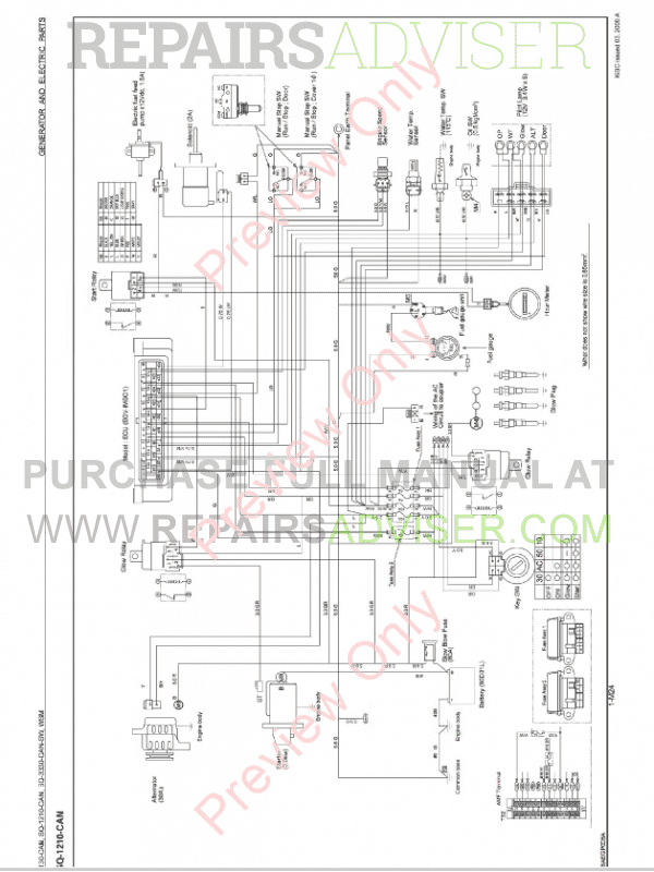 Kubota SQ-1130-3330-CAN-SW Generators Workshop Manual PDF