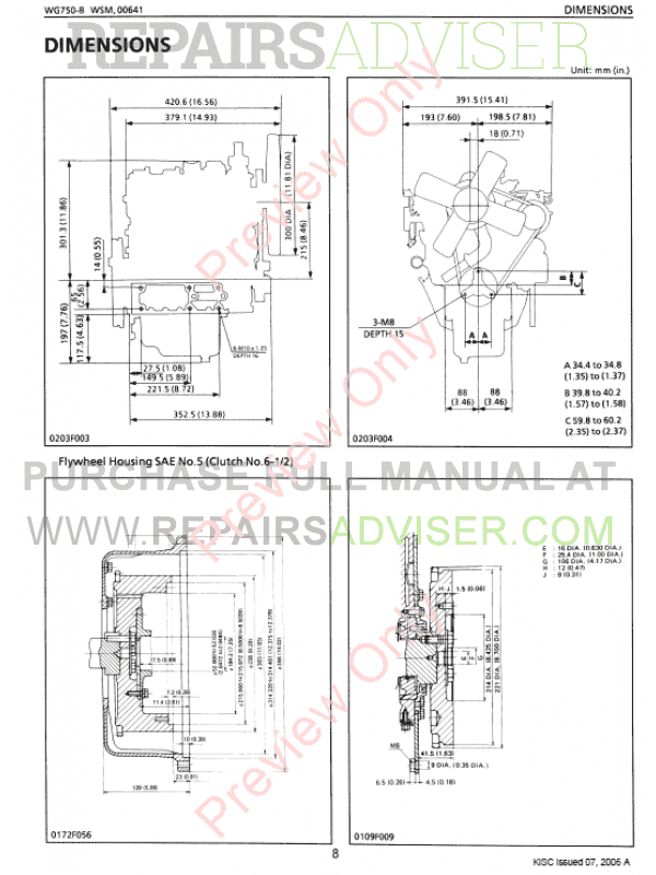 Download Kubota WG750 DG750-E DF750-E Workshop PDF