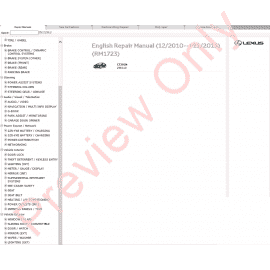 Lexus ES200, ES250, ES350 Repair Manual 07/2015 Download