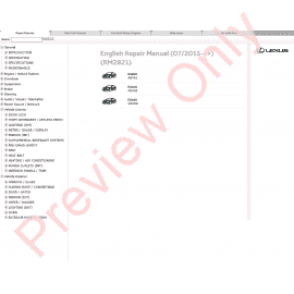 Lexus CT200h Repair Manual 12.2013 Download