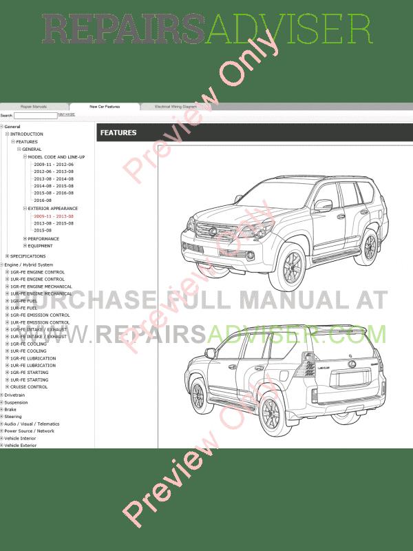 Lexus GX460 Repair Manual 11/2009 Download