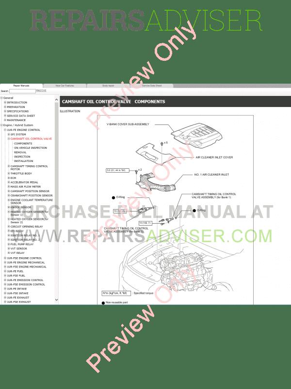 Lexus LS460 Repair Manual 09.2015 Download