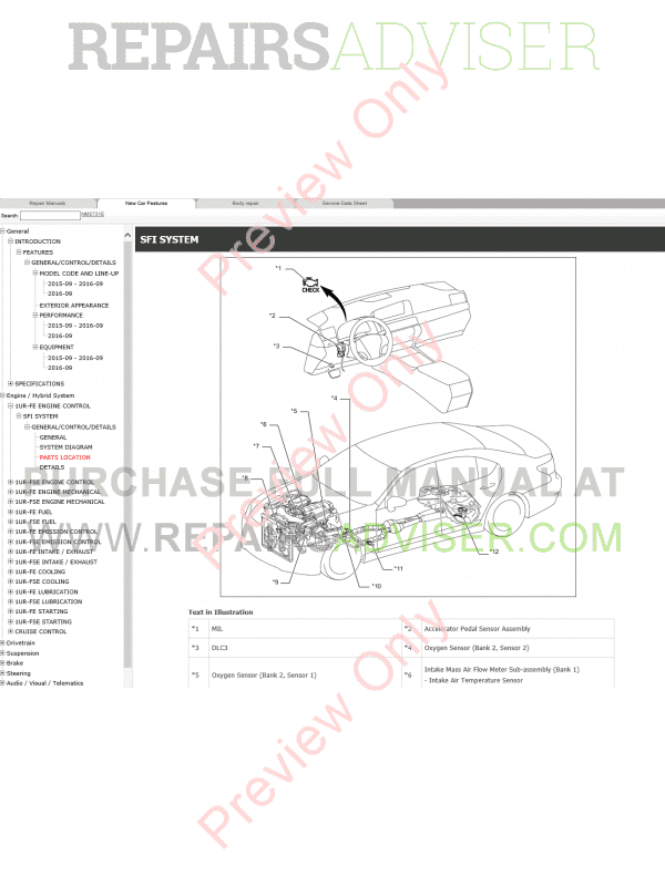 Lexus LS460 Repair Manual 09.2015 Download