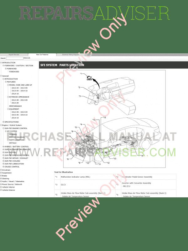 Lexus LS600h Repair Manual 09.2012-08.2015 Download