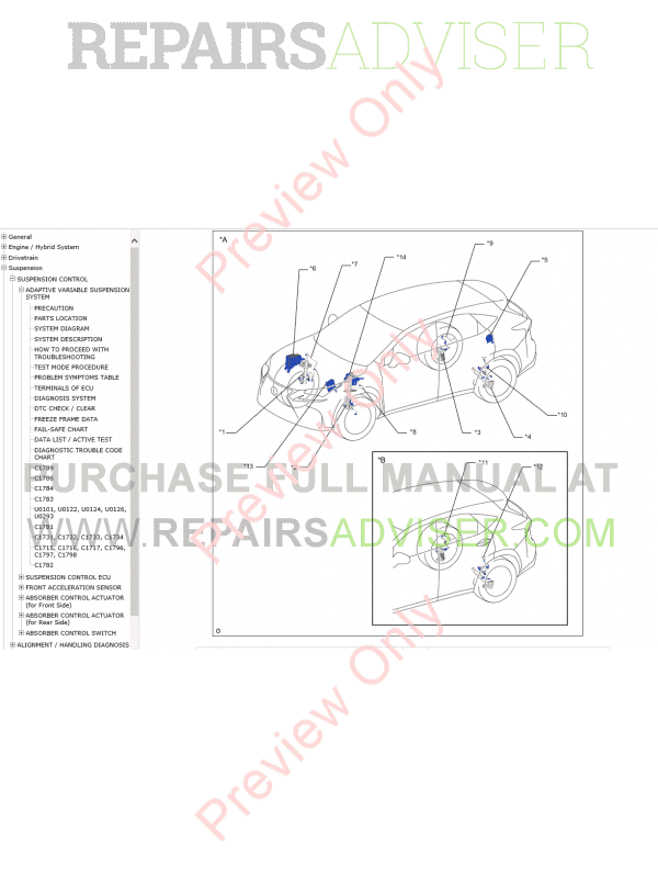 Lexus NX300h Repair Manual PDF 07-2014 Download
