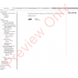 Lexus RX350 / RX330 / RX300 PDF Manual Download