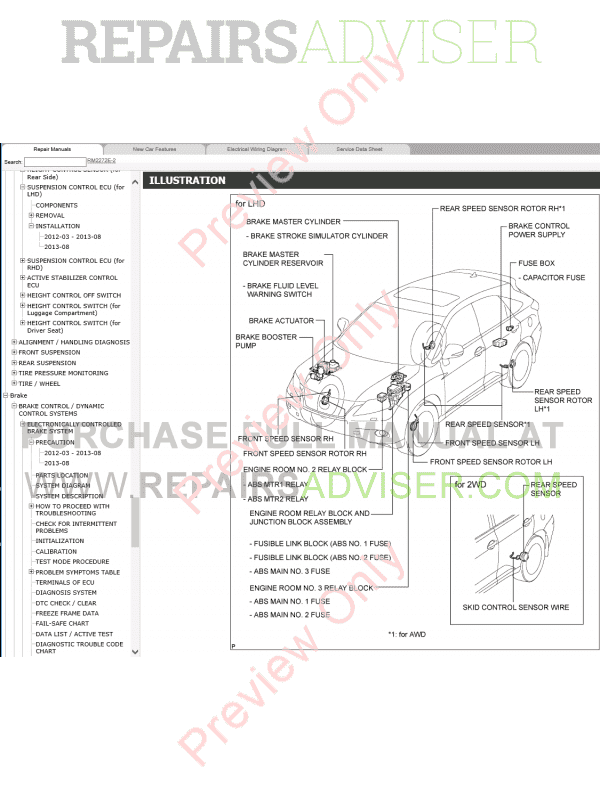 Lexus RX450h (GYL10, GYL15) Repair Manual 03.2012-09.2015