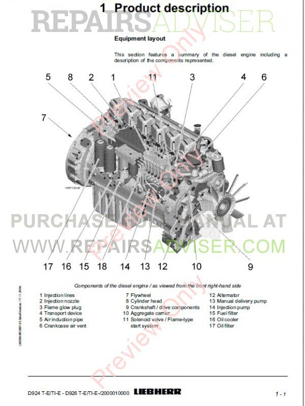 Download Liebherr Diesel Engine D924/926T-E/TI-E Operating
