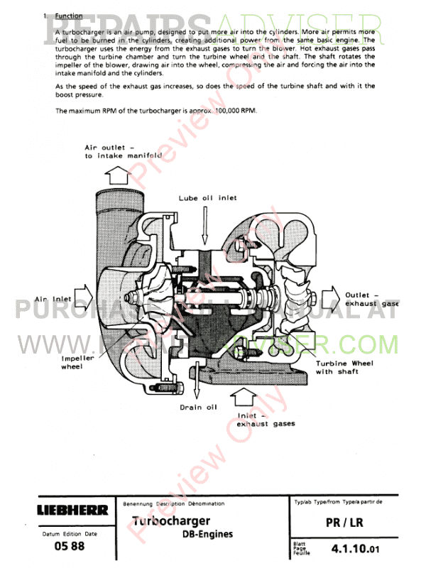 Liebherr LR611-641 Crawler Loaders PDF Service Manual Download