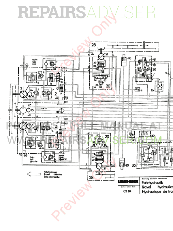 Liebherr PR711C-751 Crawler Dozers PDF Service Manual Download