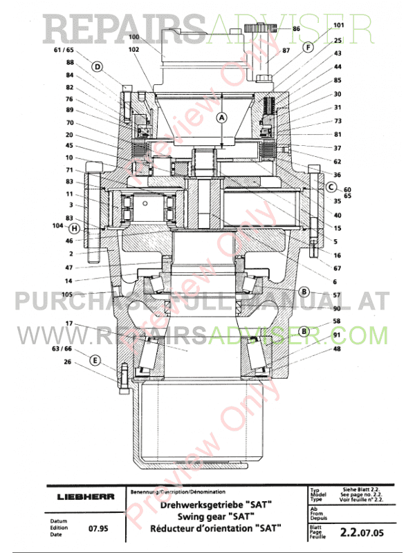 Liebherr R 994 Excavator PDF Manual Download