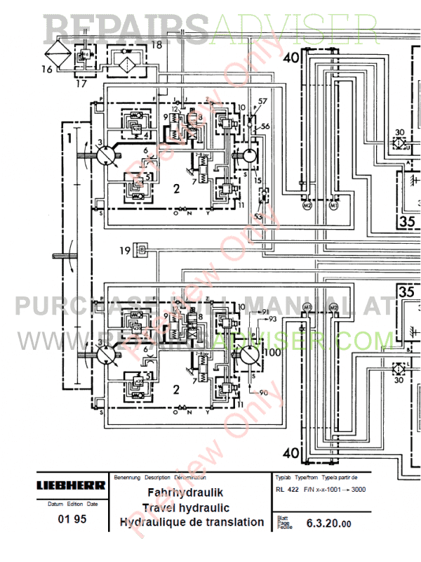 Liebherr RL 22-52 Pipe Litronic Layers Service Manual PDF