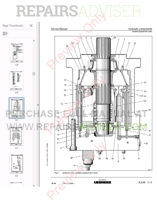 Liebherr RL 44-64 Pipe Layers Service Manual PDF Download