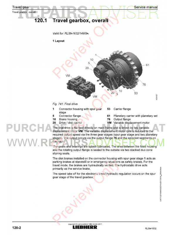 Liebherr RL 56-1632 Pipe Layers Service Manual PDF Download