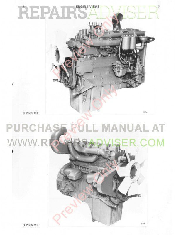 Man D 2565 ME, D 2566 ME/MTE, D 2866 E/TE Engines Repair