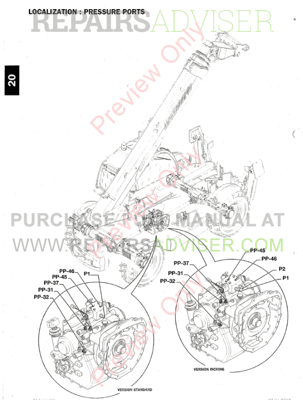 Manitou Telehandler MT1840 Workshop Repair Manual Download PDF