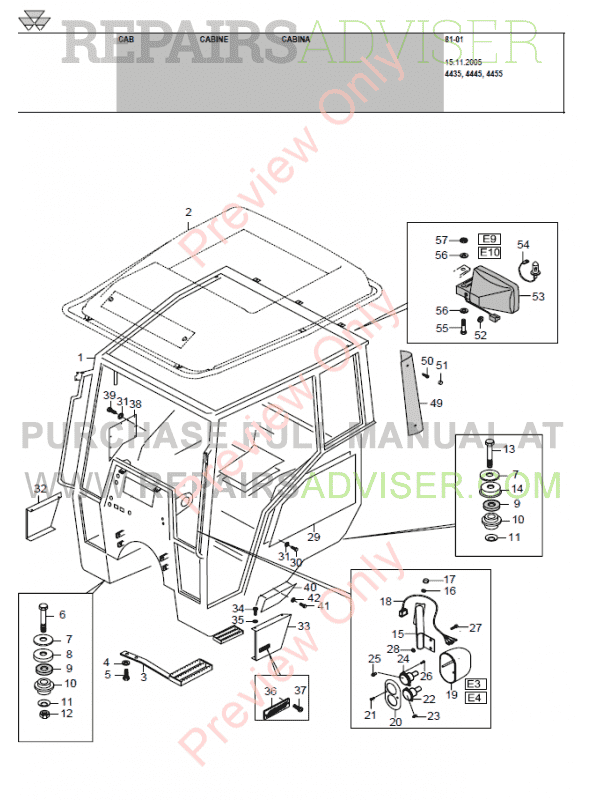 Massey Ferguson 4435,4445,4455/L Tractors PDF Download