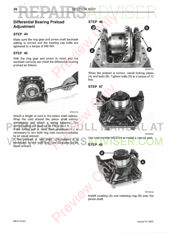 McCormick CX Series SM 8-10602 Service Manual PDF Download