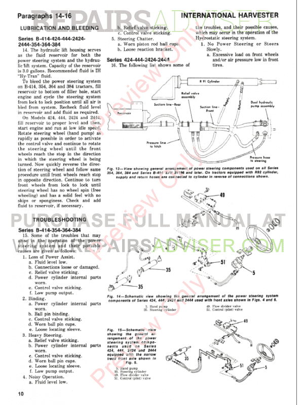 McCormick Harvester B-414 Set of Shop Manual And Parts