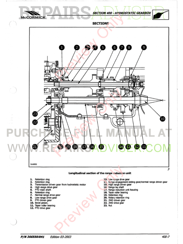 McCormick GX-40H GX-45H GX-50H Tractors Repair Manual Download