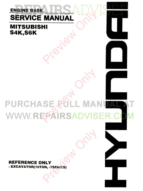 Mitsubishi Engine Base S4K, S6K for Hyundai Equipment