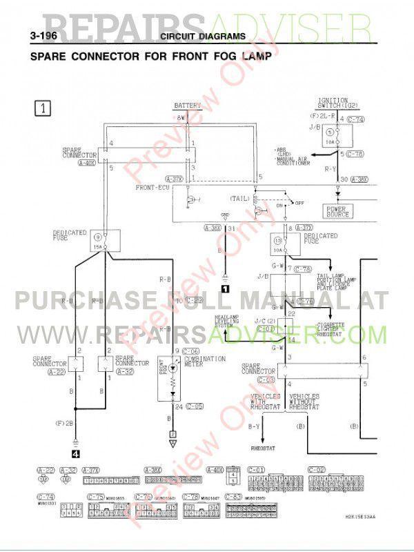 mitsubishi space wagon 1998 wiring diagram
