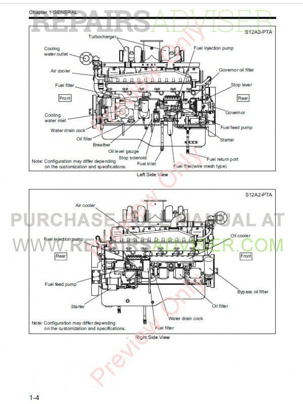 Mitsubishi S12A2 Diesel Engine Service Manual PDF Download