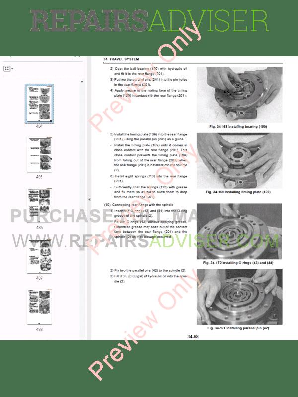 New Holland E30.2SR, E35.2SR Hydraulic Excavators Workshop