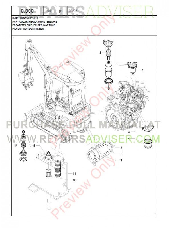 New Holland E40.2SR Crawler Excavator Parts Catalog PDF